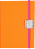 Undercover Recycled Leather Notebook Plain - Neon Orange - A6