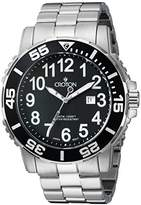 Croton Men's CA301280BKBK Analog Display Quartz Silver Watch