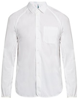 Oamc Raglan-sleeved cotton-poplin shirt