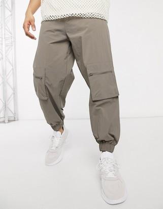 ASOS DESIGN nylon sweatpants with zip pockets