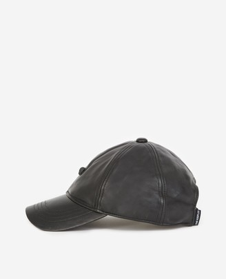 The Kooples Black leather cap with skull detail