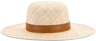 Janessa Leone Kerry Boater Hat in Natural | FWRD