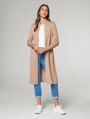Forever New Ria Longline Knit Cardigan - Camel - l