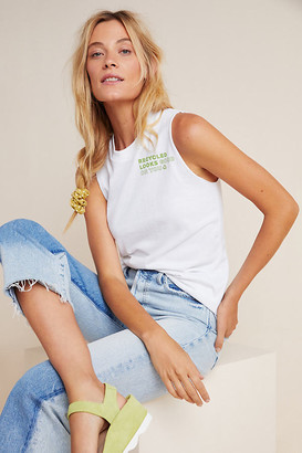 Anthropologie Upcycle x Recycling Muscle Tee By Upcycle in White Size XS