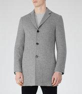 Reiss Reiss Zen - Wool Mix Overcoat In Grey