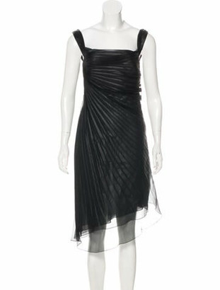 Valentino Sleeveless Midi Dress Black