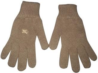 Burberry Beige Wool Gloves