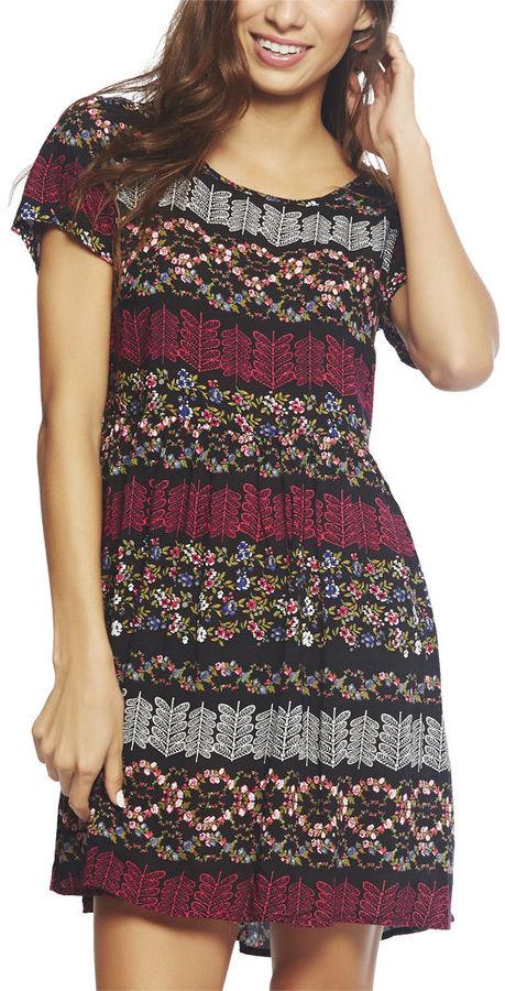 Babydoll Floral Aztec Dress