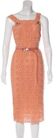 Dolce & Gabbana Belted Macramé Dress w/ Tags