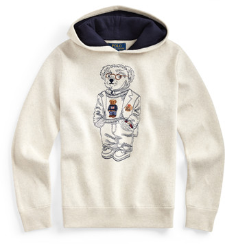 Ralph Lauren Bear Cotton Hooded Sweater