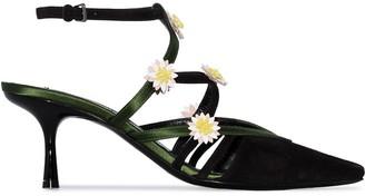 Fabrizio Viti Gardner 65mm flower pumps