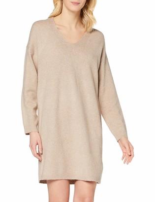Pieces Women's PCSTAR LS V-Neck Knit Dress BC