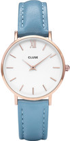Cluse CL30046 Minuit stainless steel and leather watch