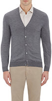 Zanone MEN'S V-NECK CARDIGAN-GREY SIZE XXS