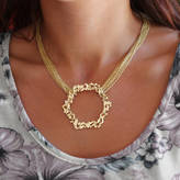 Gia Belloni Multi Chain Large Honeycomb Necklace Reduced Price