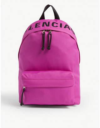 Balenciaga Explorer neon nylon backpack