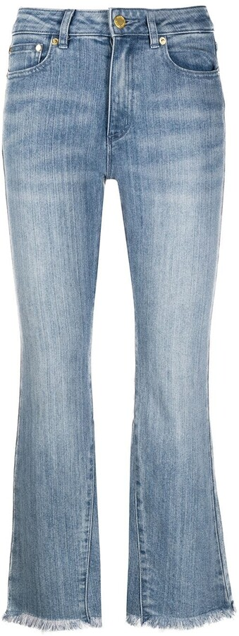 MICHAEL Michael Kors High-Rise Cropped Kick-Flare Jeans