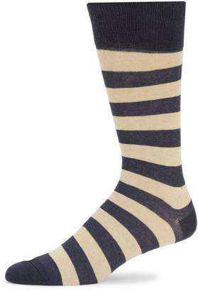 Saks Fifth Avenue Made In Italy Striped Crew Socks