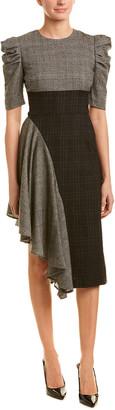 AMUR Wool-Blend A-Line Dress
