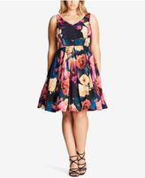 City Chic Trendy Plus Size Fit & Flare Dress