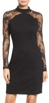 BB Dakota Women's Lace & Ponte Dress