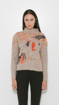 Rachel Comey Embroidered Funnel Neck Pullover