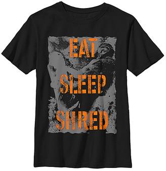 Fifth Sun Boys' Tee Shirts BLACK - Black 'Eat Sleep Shred' Crewneck Tee - Boys