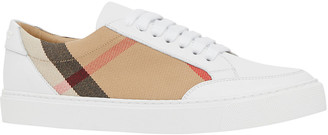 Burberry New Salmond Check Leather Sneakers