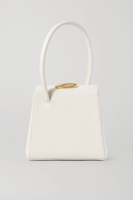 Little Liffner Mademoiselle Lizard-effect Leather Tote - White