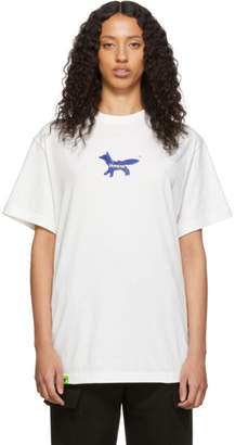 MAISON KITSUNÉ White ADER error The Blue Fox T-Shirt