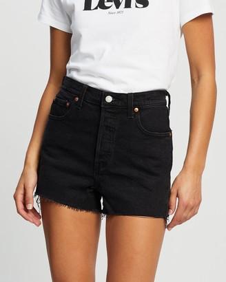 Levi's Women's Black Denim - Ribcage Shorts - Size 24 at The Iconic