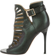 Jimmy Choo Iridescent Leather Ankle Boots