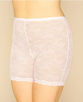 Yours Clothing White Lace Mesh Thigh Slimmer