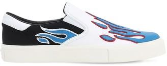 Amiri Flame Cotton Canvas Slip-on Sneakers