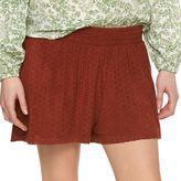 Lauren Conrad Women's Faux-Suede Cutout Shorts