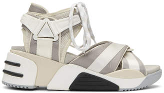 Marc Jacobs Off-White and Grey Somewhere Sport Sandals