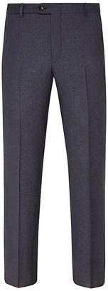 Hickey Freeman Mouline Light Chambray Blue Flat Front Wool Suit Separates Trousers