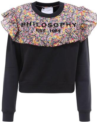 Philosophy di Lorenzo Serafini Ruffled Logo Sweatshirt