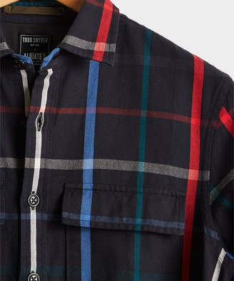 Todd Snyder Multi Color Check Shirt Jacket
