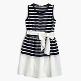 J.Crew Girls' belted stripe dress
