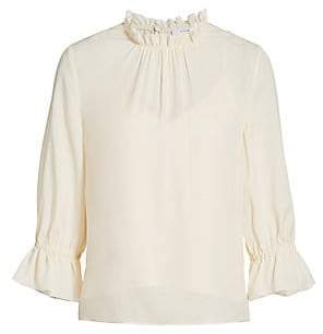 Frame Women's Brooke Silk Top