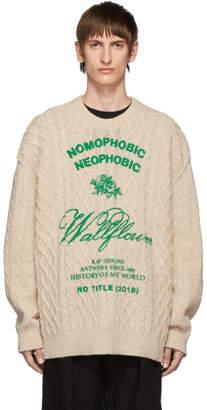 Raf Simons Off-White Wool Aran Sweater