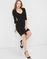 White House Black Market Three Quarter-Sleeve Black Instantly Slimming Dress