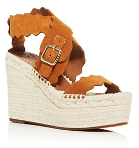 Chloé Women's Lauren Espadrille Platform Wedge Sandals