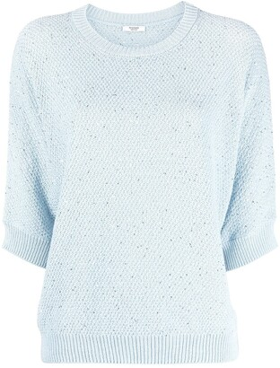 Peserico Sequin-Embellished Knitted Top