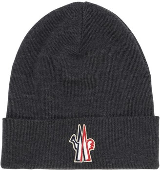 MONCLER GRENOBLE Logo Virgin Wool Beanie