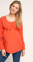 Esprit OUTLET maternity floaty blouse with inverted pleat and belt