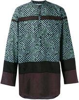Kolor printed collarless shirt - women - Cotton/Cupro/Tencel - 3