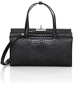 GU DE Women's Margot Croc-Embossed Leather Shoulder Bag