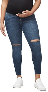 Good American Home Stretch Ankle Skinny Maternity Jeans in Blue306